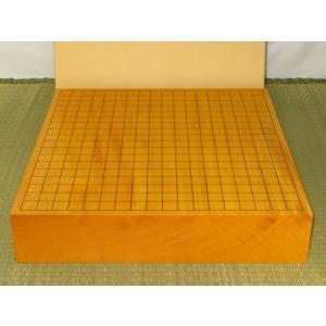 碁盤/本榧柾目(追柾)一枚物三寸卓上碁盤/新品(G139)|tohsin-bankomaten