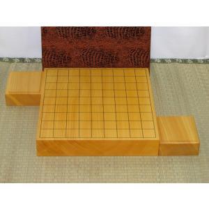 将棋盤/日本産本榧柾目2枚継二寸卓上将棋盤 駒台付(S139)   tohsin-bankomaten