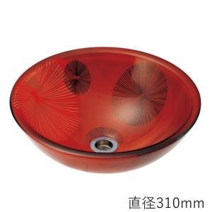 トイレ手洗い器 ガーデンパン  おしゃれ  ガラス 花火(直径310mm) toiletas