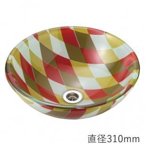 トイレ手洗い器 ガーデンパン  おしゃれ  ガラス アーガイル(直径310mm) toiletas