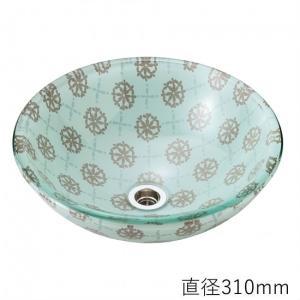 トイレ手洗い器 ガーデンパン  おしゃれ  ガラス ライラック(直径310mm) toiletas