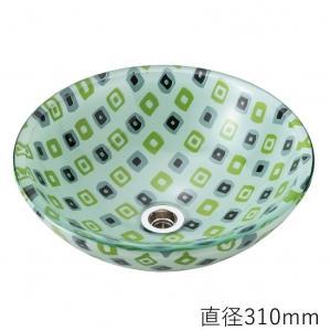 トイレ手洗い器 ガーデンパン  おしゃれ  ガラス キューブ(直径310mm) toiletas
