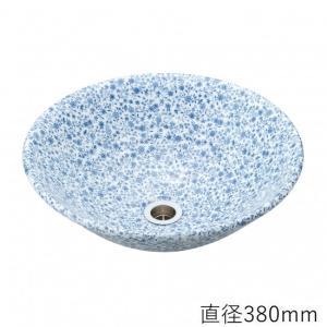 トイレ手洗い器 ガーデンパン  おしゃれ   ブルーフラワー (直径380mm) toiletas
