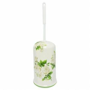 トイレブラシ 白い薔薇 陶器|toiletas