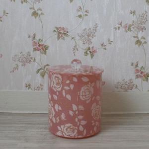 シモーヌピンク コーナーポット  トイレポット 陶器 |toiletas