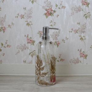 ホワイトリボン ソープボトル 陶器 詰め替え用ボトル|toiletas