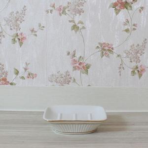 ソフトモダン ソープディッシュ 石鹸入れ 石鹸置き 陶器|toiletas