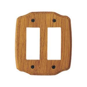 スイッチプレート おしゃれ 木製  チーク6穴 toiletas