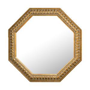 ミラー 鏡 トイレ 八角 アンティーク toiletas