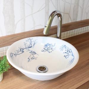 トイレ手洗い器 セット おしゃれ 鳥獣戯画(320mm)・単水栓2点 toiletas