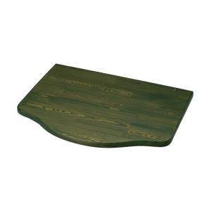 浮作仕上げ木製カウンター モスグリーン L|toiletas