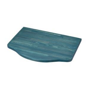 浮作仕上げ木製カウンター ターコイズ L|toiletas