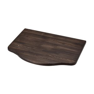 浮作仕上げ木製カウンター ダークブラウン L|toiletas