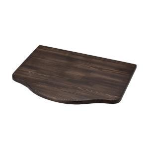 浮作仕上げ木製カウンター ダークブラウン S|toiletas