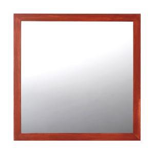 ミラー 鏡 トイレ 木製 ブロンズレッド toiletas