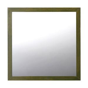 ミラー 鏡 トイレ 木製 モスグリーン toiletas