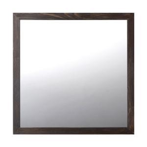 ミラー 鏡 トイレ 木製 ダークブラウン toiletas