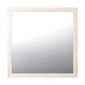 ミラー 鏡 トイレ 木製 オフホワイト toiletas