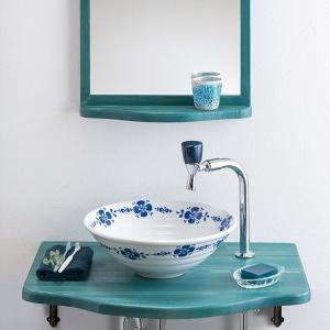 トイレ手洗い器 セット おしゃれ ブロンマ(380mm)・単水栓2点 toiletas
