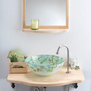 トイレ手洗い器 セット おしゃれ ボタニカル(355mm)・単水栓2点 toiletas