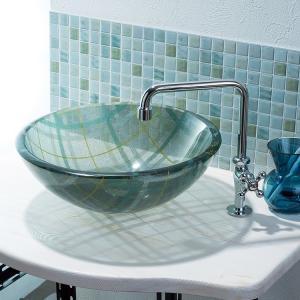 トイレ手洗い器 セット おしゃれ チェック(355mm)・単水栓2点 toiletas