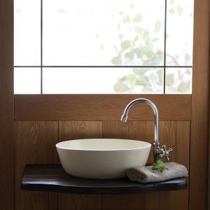 トイレ手洗い器 セット おしゃれ オーバルとりのこ色・単水栓2点 toiletas