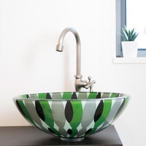 トイレ手洗い器 セット おしゃれ フラワー(355mm)・単水栓2点 toiletas