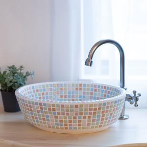 トイレ手洗い器 セット おしゃれ ファボリオーバルパステル・単水栓2点 toiletas