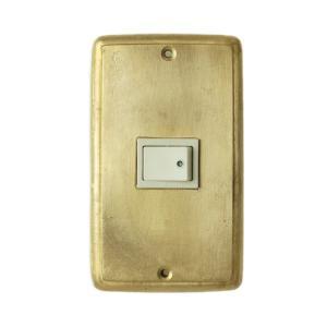 スイッチプレート おしゃれ 真鍮  1穴 SP115HP toiletas