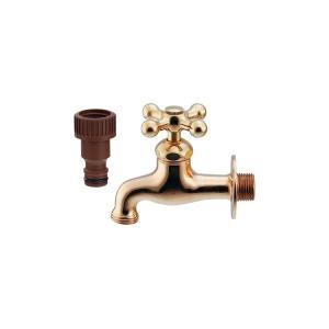 ガーデン水栓 蛇口 ゴールド 金 おしゃれ K701K025|toiletas