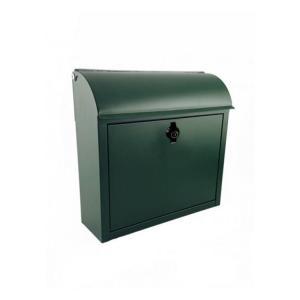 郵便ポスト おしゃれ 壁掛け ルーフィング グリーン|toiletas