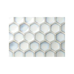 モザイクタイル 六角形 ハニカム 洗面 トイレ デスポート DES-10W/ 11シート toiletas
