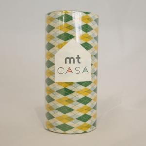 壁用マステmt CASA 幅10cm×10m アーガイル・グリーン 壁 幅広 toiletas