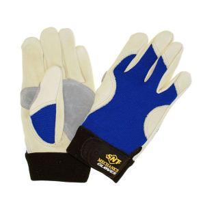 作業手袋 メカニックグローブ MEC-689A AAグレード・高級牛表革/スパンデックス使用|toka-store