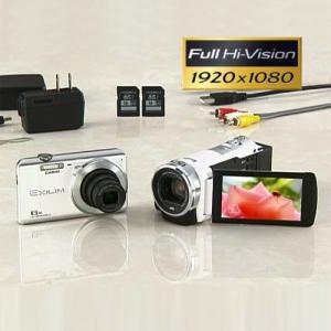 JVC フルハイビジョンムービー「ビクター Everio GZ-HM177」&カシオ デジカメ「EXILIM EX-Z900」 16GB SDHCカード2枚付