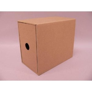 (サプライ) PAPER SLEEVE BOX CD収納ボックス/引き出し式段ボールBOX(クラフト/未組立)