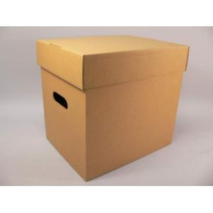(サプライ) LD・LP保管用(クラフト)蓋付き強化段ボール箱(未組立)|tokagey