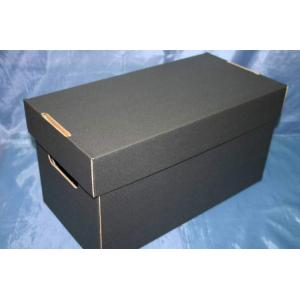 (サプライ) EP(シングルレコード)保管用 蓋付き強化段ボール箱 黒色(未組み立て)|tokagey