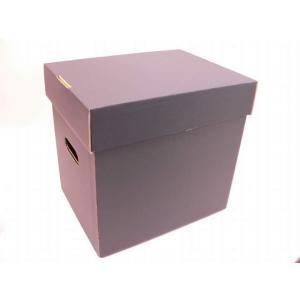 (サプライ) LD・LP保管用(黒色)蓋付き強化段ボール箱(未組立)|tokagey