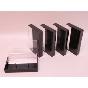 (サプライ) カセットテープ用プラケース(透明/黒色)5ケースセット
