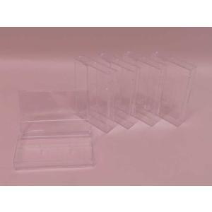 (サプライ) カセットテープ用プラケース(透明)5ケースセット