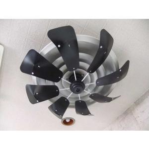 エコエコファン  TEA-201B(ブラック)エアコン風よけ&省エネ対策 天井埋込型エアコン用 アネモ用 節電グッズ 空調効率UP シーリングファン|tokai-ds