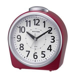 RHYTHM リズム時計 8RA645SR01 目覚まし時計 フェイス645 アナログ表示 赤メタリック色 電池付き|tokei-akashiya