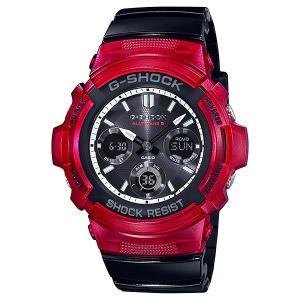 G-SHOCK ジーショック AWG-M100SRB-4AJF レッド×ブラック×ホワイト 電波ソーラー アナログ×デジタル表示 腕時計|tokei-akashiya