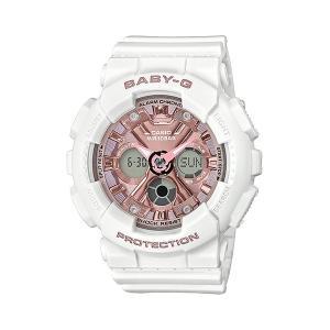 BABY-G ベビージー BA-130-7A1JF ホワイト×ピンク メタリックカラー レディースウオッチ 女性用 腕時計 ホワイト CASIO カシオ|tokei-akashiya