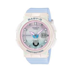 BABY-G ベビージー BGA-250-7A3JF ビーチ・トラベラー・シリーズ Beach Traveler Series レディース 女性用腕時計 ホワイト×ピンク×ブルー|tokei-akashiya