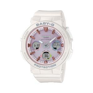 BABY-G ベビージー BGA-2500-7A2JF  電波ソーラー Beach Traveler Series ビーチ・トラベラー・シリーズ 女性向け腕時計 レディース ホワイト×ピンク|tokei-akashiya