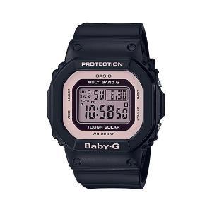 BABY-G ベビージー BGD-5000-1BJF 電波ソーラー スクエアモデル レディース 女性向け腕時計 ブラック×ピンク tokei-akashiya