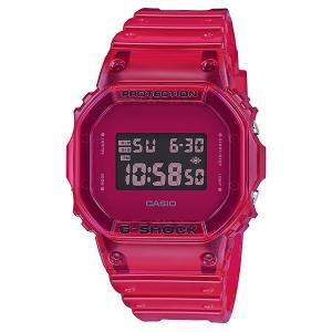 G-SHOCK ジーショック DW-5600SB-4JF スクエアフェイス Color Skeoton Series シースルー素材 レッド 腕時計 CASIO カシオ tokei-akashiya