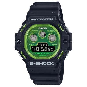 G-SHOCK ジーショック DW-5900TS-1JF 透明蛍光文字板 ブラック×グリーン ウレタンバンド 20気圧防水 メンズ 腕時計 CASIO カシオ|tokei-akashiya